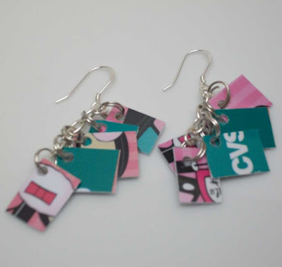 Pink Mini Take Credit Earrings
