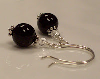 Onyx earrings - click to enlarge