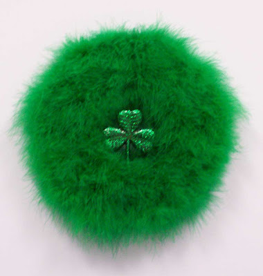 Green marabou St. Patrick's Day wreath