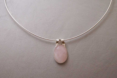 Rose Quartz Pendant on Chain