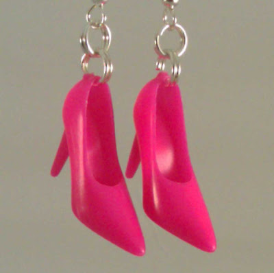 Lisa's Earrings - Hot Pink