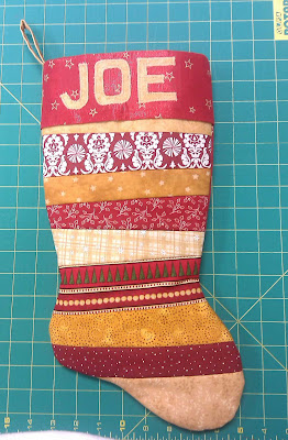 Finished Christmas stocking