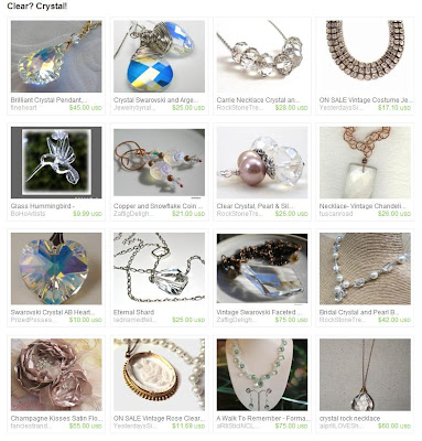 My crystal heart pendant in an Etsy treasury