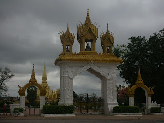 entrance to Pha that Luang Stupa Vientiane Laos