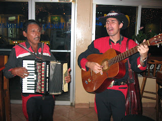 accordion players in Wacky Wanda's bar in Puerto Quepos Costa Rica