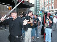 frikies en una convención de Star Wars