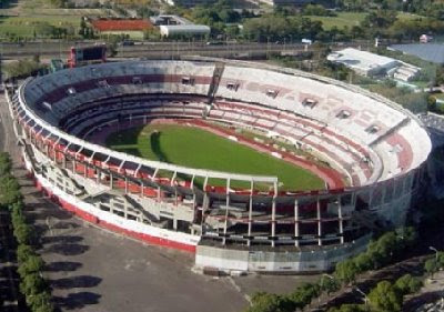 foto aerea del estadio monumental