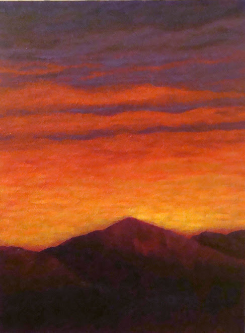 "Red Sky  |  Acrylic  |  18"" x 24"""