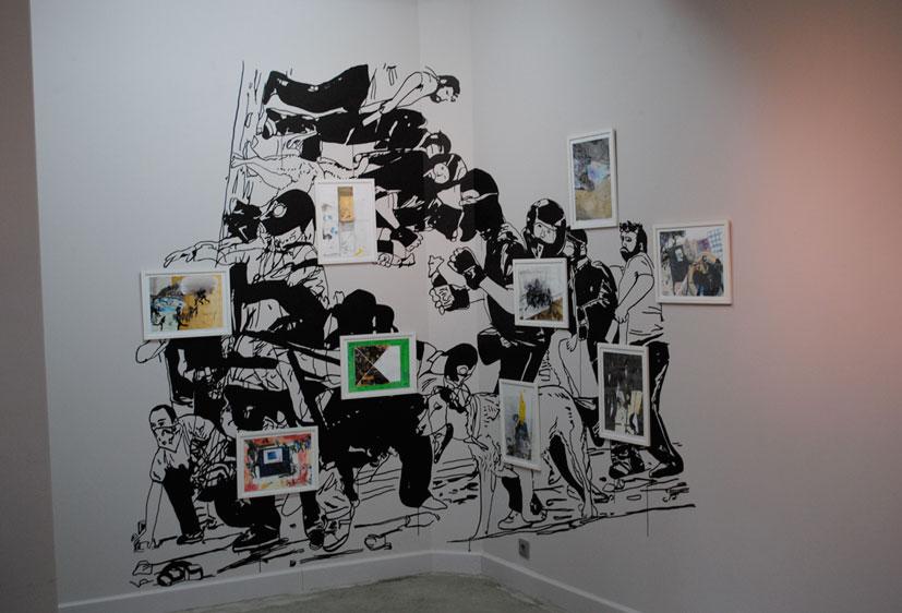 Mural in Gallery Ververs 2010