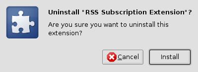 ตกลงมรึงจะ install หรือ uninstall