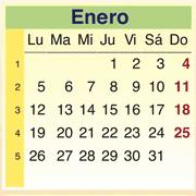 Calendario Enero 2009