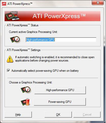 ATI Radeon HD5650M - ATI PowerXpress