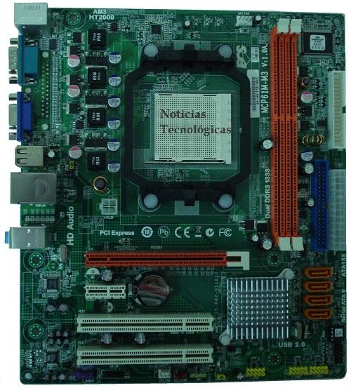 PCB da Placa mãe ECS MCP61M-M3