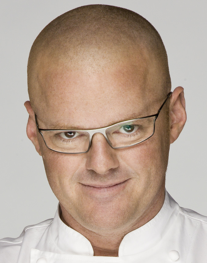 Heston Blumenthal wears customised Bugatti glasses in the Waitrose campaign