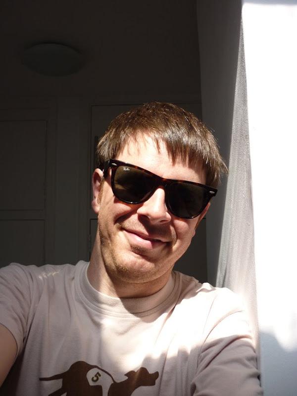 Rob Moss wears Ray-Ban Wayfarer