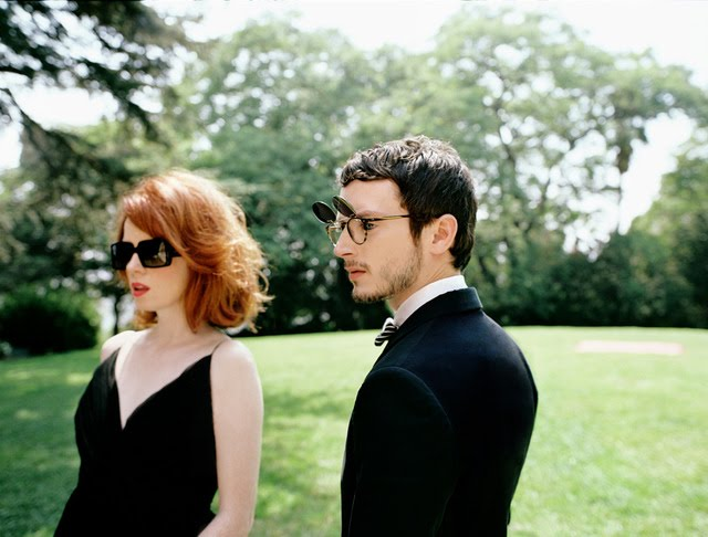 Oliver Peoples 2010 campaign featuring Elijah Wood and Shirley Manson