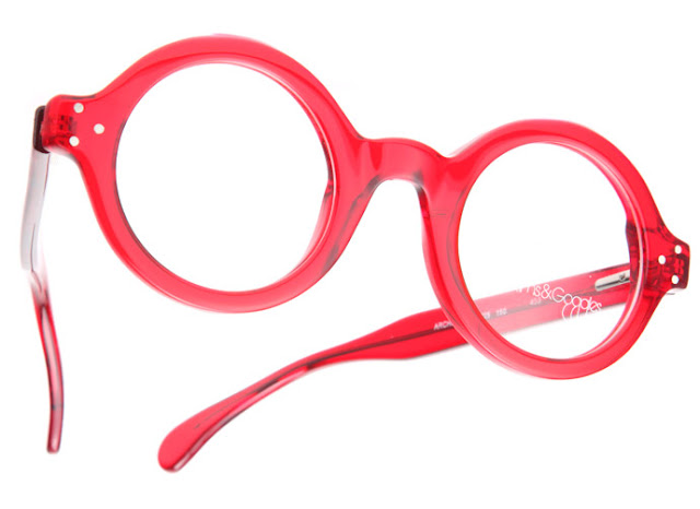 Round glasses from RoundGlasses: Architect in Cardinal Red