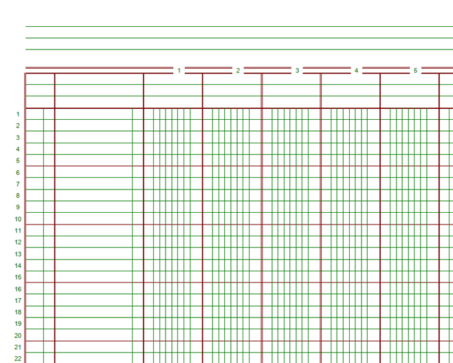 Magic image in printable ledger sheets