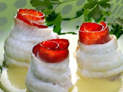 Recetas de lenguado,receta de lenguado en salsa de melocoton,recetas para adelgazar,dietas para adelgazar