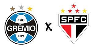 São Paulo e Grêmio pelo campeonato Brasileiro