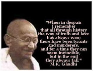 Gandhi-ji Message