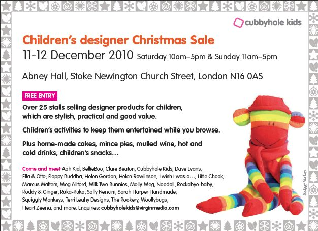 Christmas Kids design sale: Cubbyhole kids