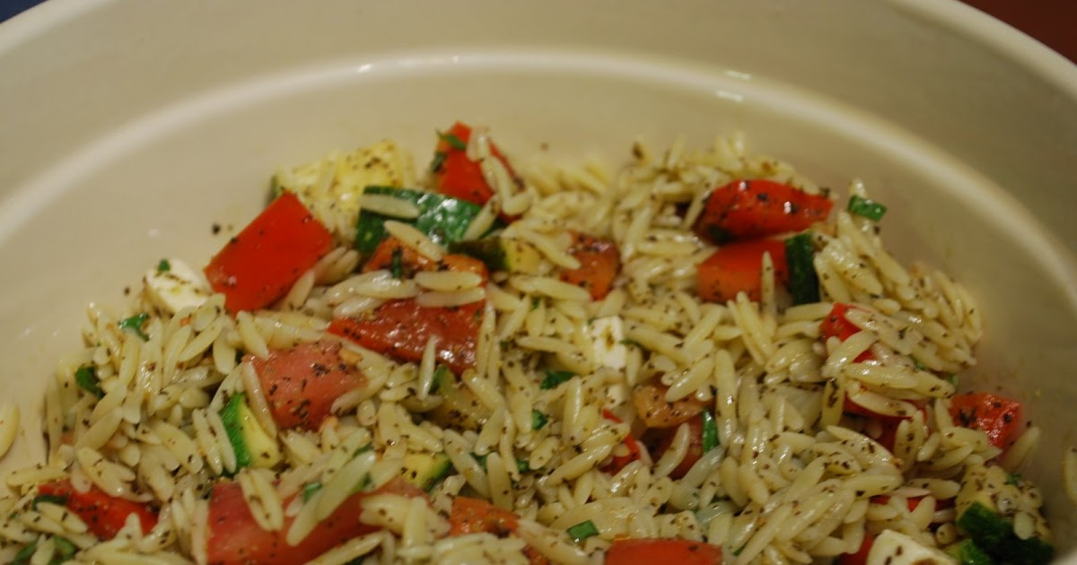 Cooking This and That: Orzo with Grilled Summer Vegetables and Pesto ...