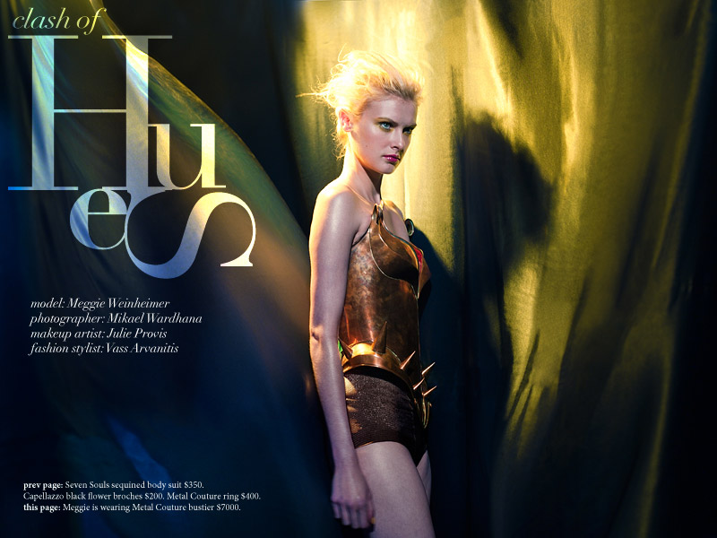 Maggie Weinheimer by Mikael Wardhana in Clash of Hues | Label: fashion