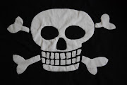 It is a massive skull and crossbones with skull and crossbones fabric on the .