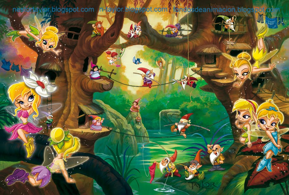 Ilustración infantil - Fondos de animación: HADAS Y DUENDES