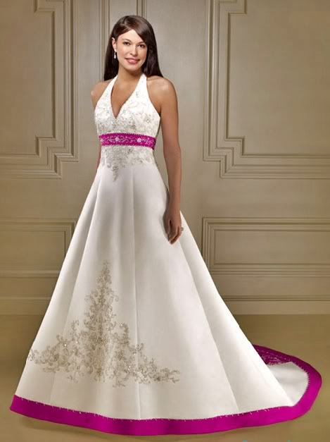 My second choice halter neck low back wedding dress