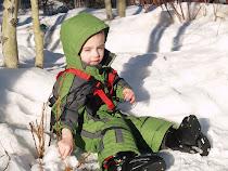 Krew is loving skii lessons