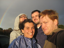 Under the rainbow with the housemates!