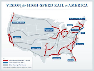 Proposed US high speed rail routes