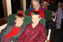 Jake and Andrew on the Polar express