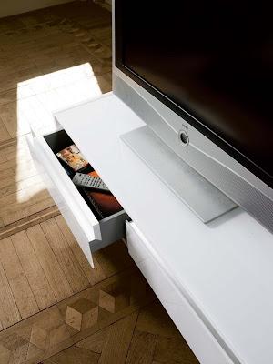 Masuta de televizor alb
