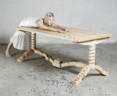Masa din lemn Marbelous