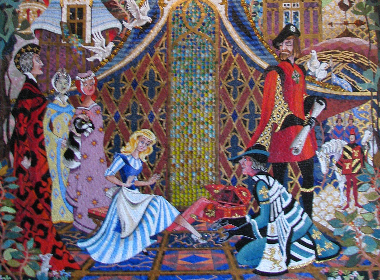 cinderella castle mosaics in the magic kingdom | disney world blog