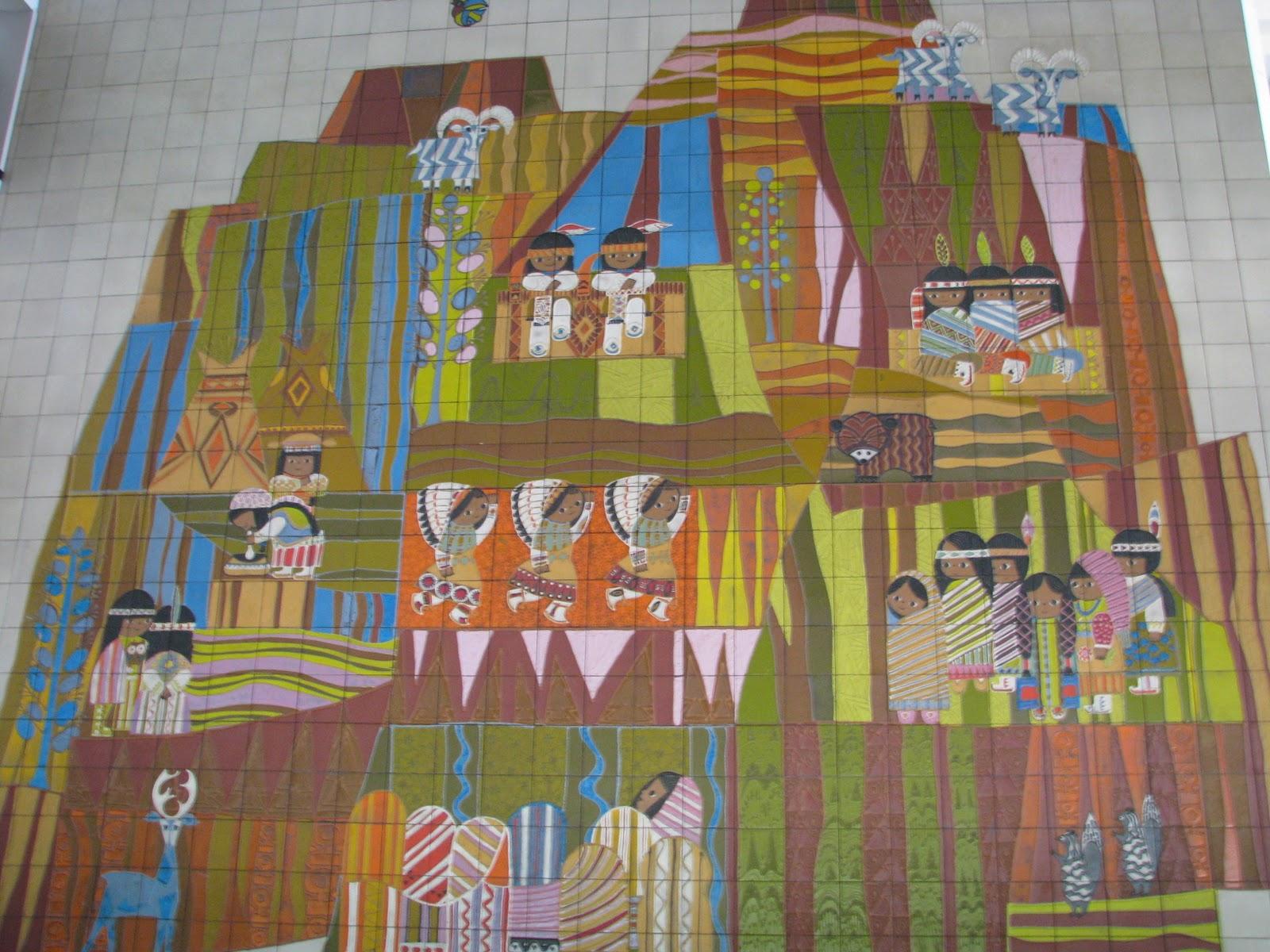 Disney world top 6 resort hotel lobbies disney world for Contemporary resort mural