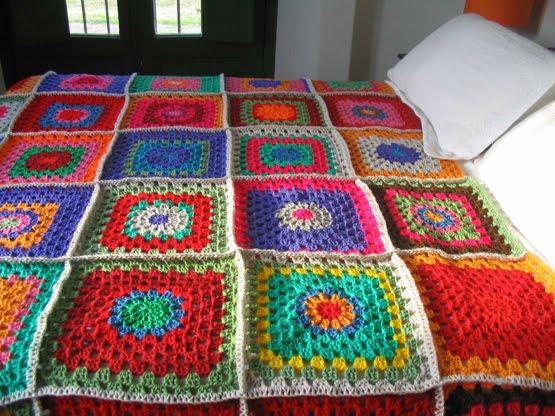 Puerta al sur mantas o pie de cama a crochet para abrigar - Mantas lana ganchillo ...