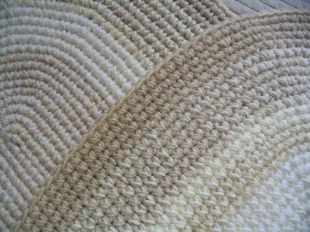 Puerta al sur alfombras ovaladas tejidas a crochet for Alfombras buenas