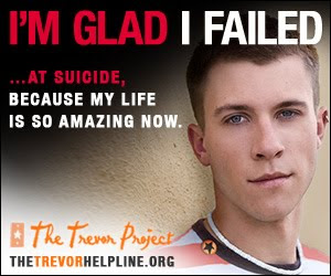 As a gay mormon boy I wish I would have known about the Trevor project so I could have called them for help.