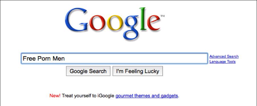 Google screening porn search