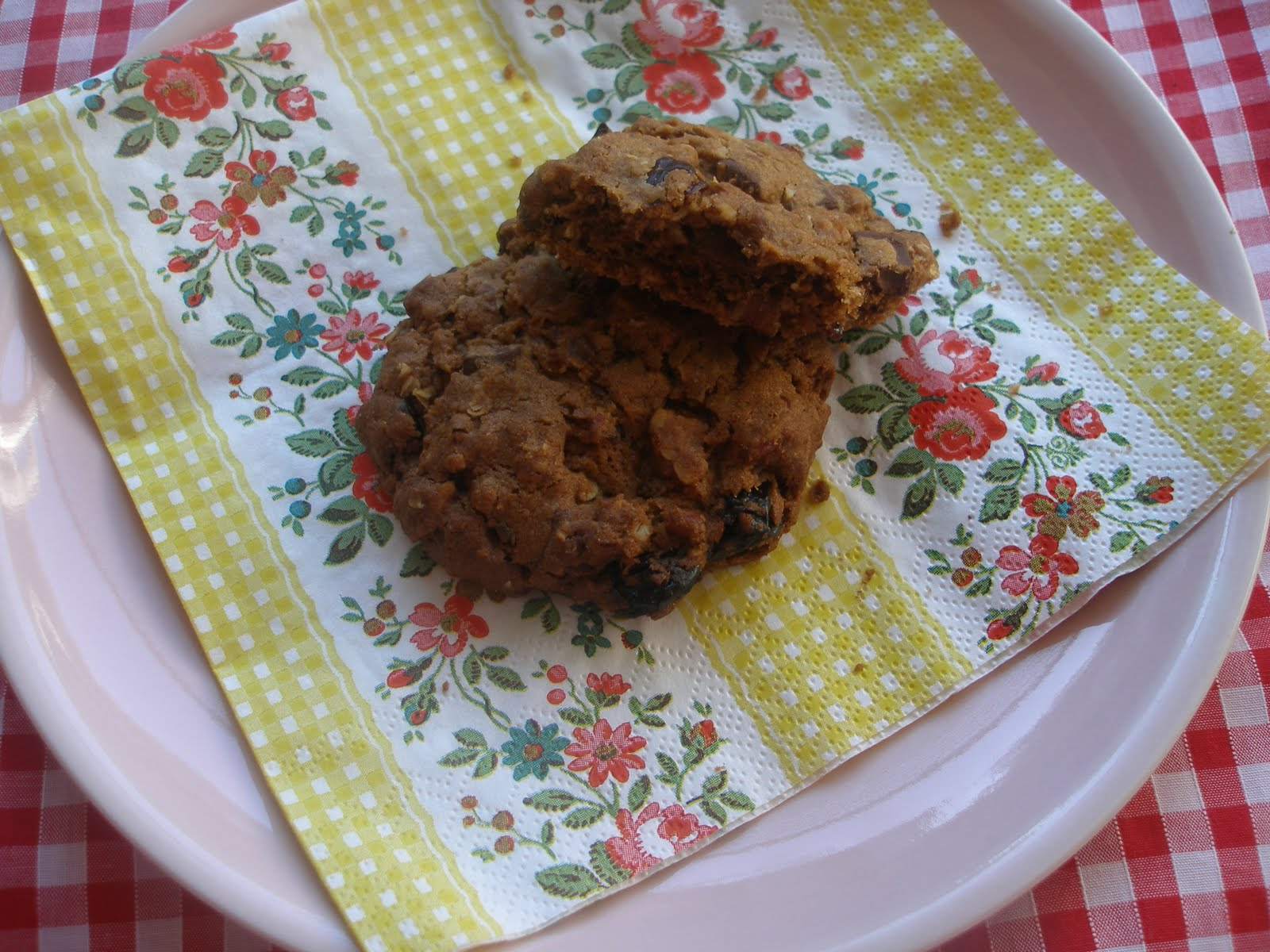 ... meringues: chocolate chip oatmeal cookies, with cherries and pecans