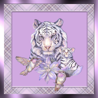 Animal Art - White Tiger
