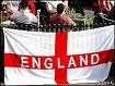 The English Flag of Saint George defaced with the word England