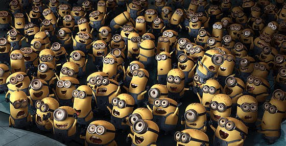 Minions Despicable Me. Yellow peanut looking Minions