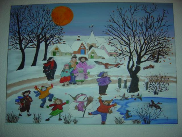 Jeux de neige....Naïf....pour Maryse