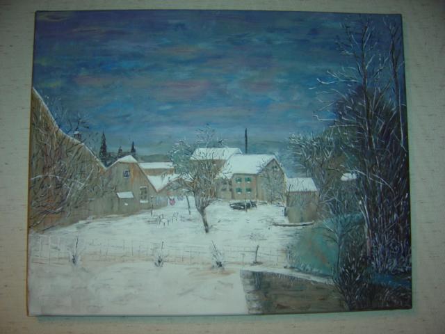 Neige en Franche-Comté - d'après Bernard Gantner...que j'adore...