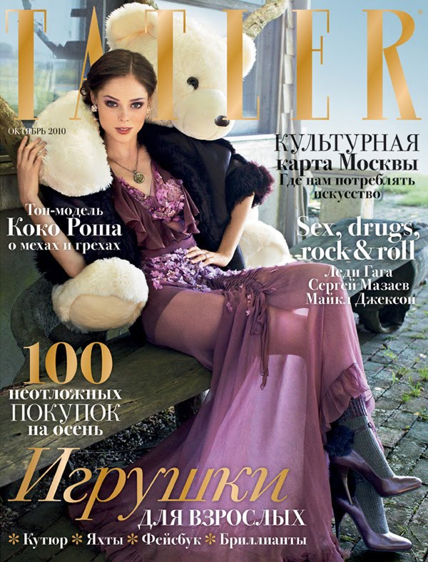 Coco Rocha For Tatler Russia Oct 2010